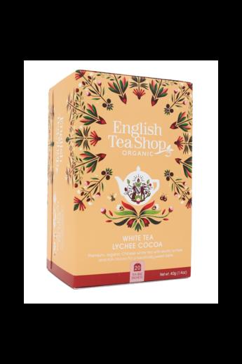 ETS 20 Fehér bio tea Licsivel és Kakaóbabbal