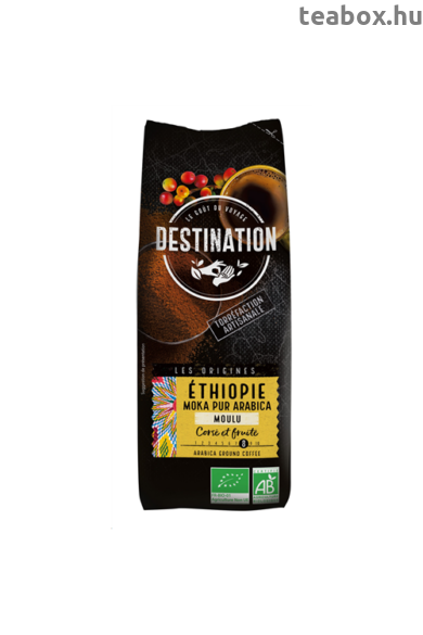 Dest 250 ETIÓP Prémium őrölt bio kávé -100% Arabica