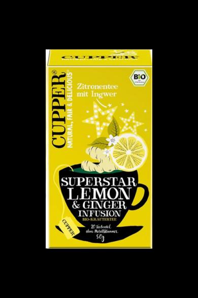CUPPER Citrom & Gyömbér bio tea