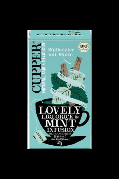 CUPPER Menta &  Édesgyökér bio tea