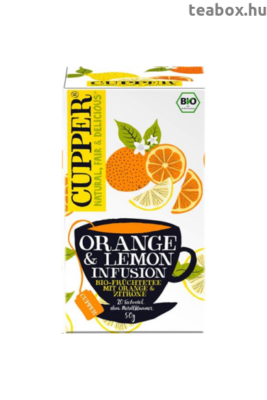 CUPPER Citromos & Narancs bio tea