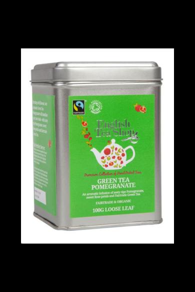 ETS 100 g Szálas Zöld bio tea Gránátalmás