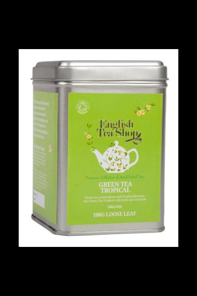 ETS 100 g Szálas Zöld bio tea Trópusi Gyümölcsös
