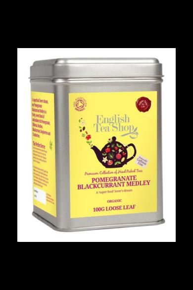 ETS 100 g Szálas Gránátalma & Feketeribizli bio tea