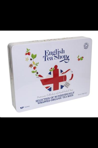 ETS 36 Ajándék Union Jack bio teakollekció fémdobozban