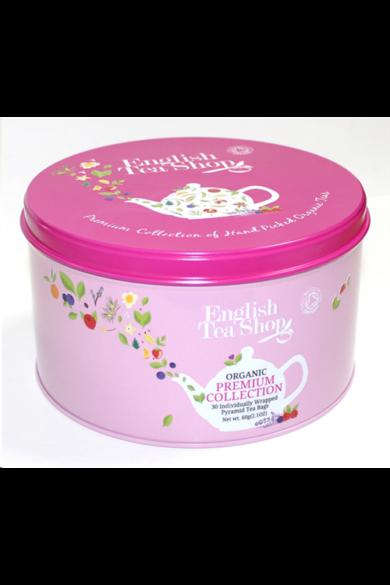 """ETS 30 Ajándék bio teaválogatás - kerek """"pink rózsaszín"""""""