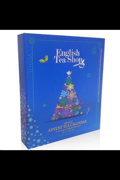 ETS Adventi kalendárium bio teaválogatás –könyves kék
