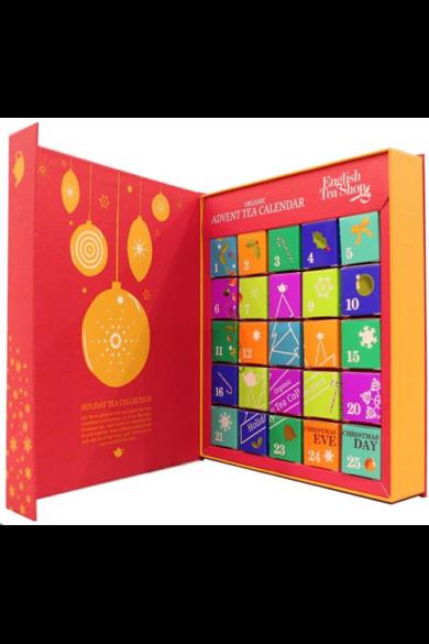 ETS Adventi kalendárium bio teaválogatás -könyves piros