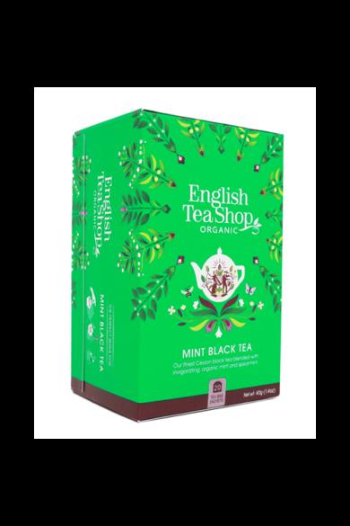 ETS 20 Fekete bio tea menta mixszel új