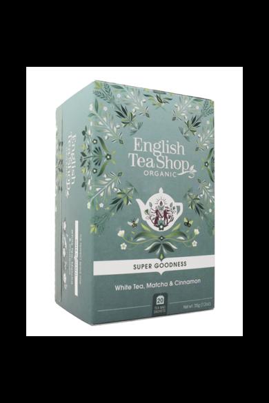 ETS 20 Fehér bio tea matchával és fahéjjal új