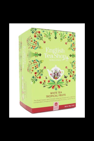 ETS 20 Trópusi gyümölcsös fehér bio tea új