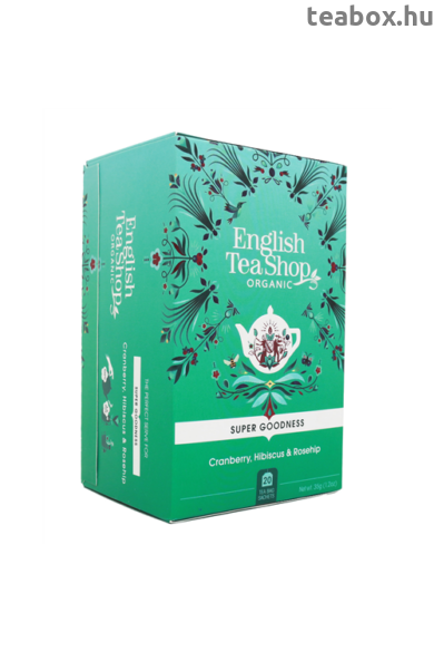 ETS 20 Áfonya hibiszkusz  bio tea, csipkebogyóval új