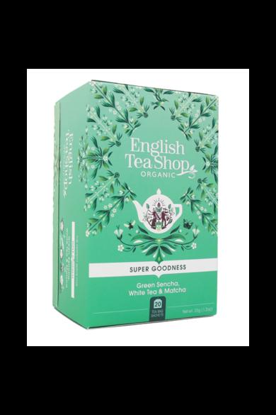 ETS 20 Zöld sencha, fehér és matcha szuper különleges bio tea új
