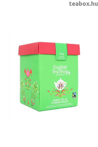 ETS 80g Zöld tea gránátalma szálas bio tea új