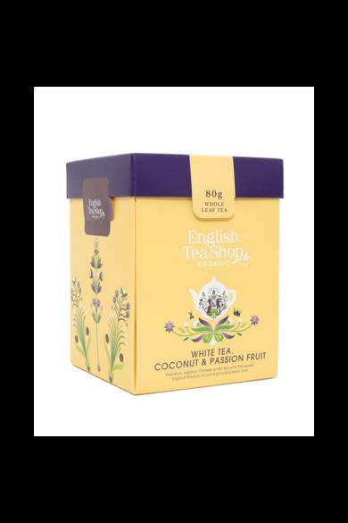 ETS 80g Fehér tea Kókusz & Maracuja szálas bio tea új