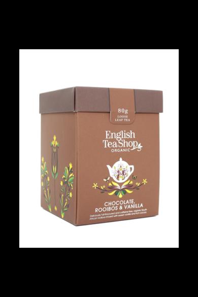 ETS 80g Csokis Vaníliás rooibos szálas bio tea