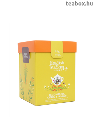 ETS 80g Citromfű gyömbér & citrus szálas bio tea