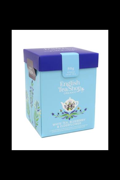 ETS 80g Fehér tea Áfonya & Bodza szálas bio tea új
