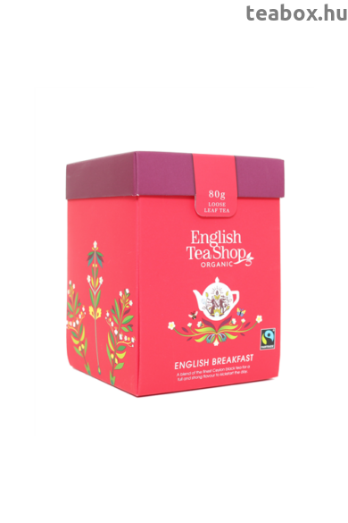 ETS 80g English Breakfast szálas bio tea új