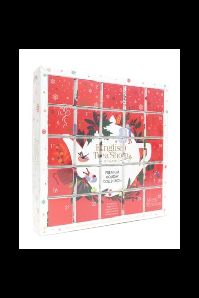 """ETS 25 Adventi kalendárium piros """"puzzle"""" bio teaválogatás"""