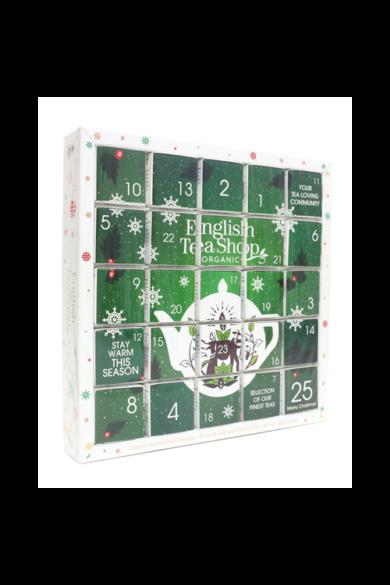 """ETS 25 Adventi kalendárium zöld """"puzzle"""" bio teaválogatás"""